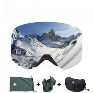 Ski Goggles with Case Double Lens UV400 Anti-fog Ski Snow Glasses Skiing Men Women Winter Snowboard