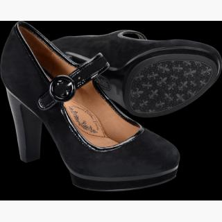 Sofft Monique : Black Suede - Womens