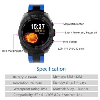 Sports Smart Watch Fitness Touch Screen Smart Bracelet USA