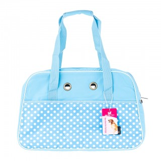 Stylish Dot Nylon Pet Carrier Bag for Cat Dog Large Size - Light Blue