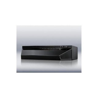 "Summit H1630B Black 30"" Convertible Range Hood for Ducted or Ductless Use"