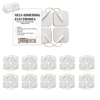 TENS Unit Pads Electrodes 2x2 40 Pcs Replacement Reusable Premium Pads Electrode Patches for Electro