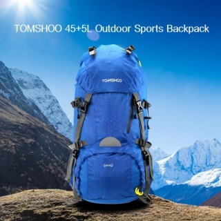 TOMSHOO 45+5L Outdoor Sport Hiking Trekking Camping Travel Backpack Pack Bag Mountaineering Climbing USA