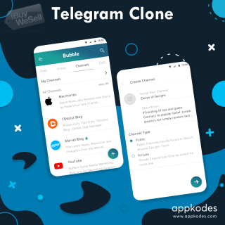 Telegram Clone - Appkodes Hiddy