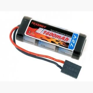 Tenergy 7.2V 2/3A 1600mAh Flat NiMH Battery Packs w/ Traxxas Connector for 1/18 & 1/16 scale Cars/Tr