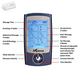 Tens Unit Muscle Stimulator with 16 Modes and 8 Pads