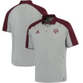 Texas A&M Aggies adidas 2016 Football Coaches Sideline climalite Polo - Gray/Maroon