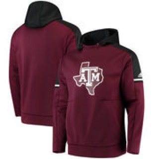 Texas A&M Aggies adidas 2017 Player Sideline Performance Hoodie - Maroon