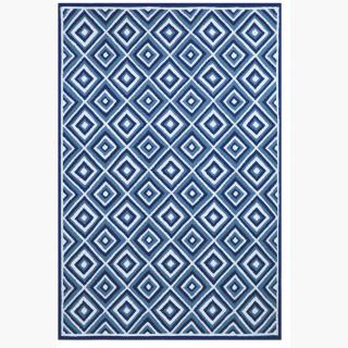 TransOcean Carlton Diamond Denim Rug
