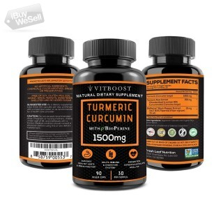 Turmeric Curcumin with BioPerine Black Pepper 1500 mg with 95% Curcuminoids