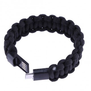USB 2.0 Charging Data Sync Cable Survival Paracord Bracelet for Android (1)