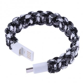 USB 2.0 Charging Data Sync Cable Survival Paracord Bracelet for Android (3)