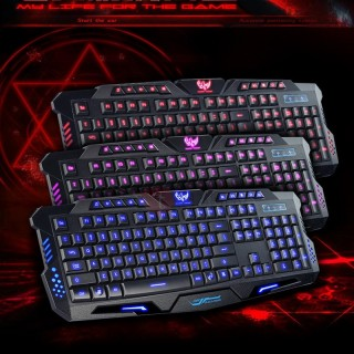 USB Mechanical Keyboard Wired Waterproof Backlight Gaming Keyboard for PC Desktop Laptop
