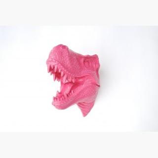 Unique Valentine's Day Gift - T-Rex Dinosaur Head Wall Mount - Hot Pink - Dinosaur Faux Taxidermy Tx