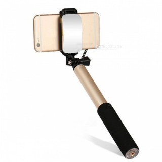 Universal Extendable Selfie Stick Monopod for Android IOS - Golden