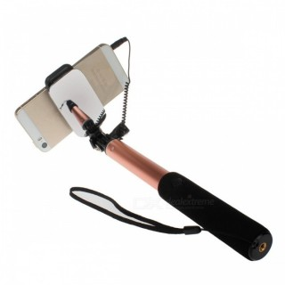 Universal Extendable Selfie Stick Monopod for Android IOS - Rose Red
