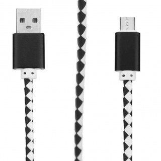 Universal Leather Braided USB Data Sync Fast Charging Cable for Android (1)