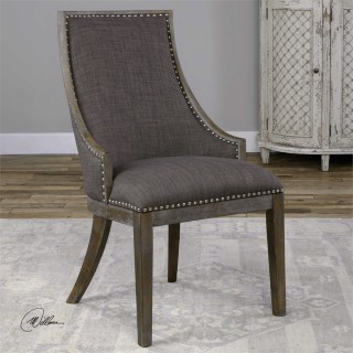 Uttermost Aidrian Accent Chair in Charcoal Gray