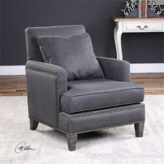 Uttermost Connolly Arm Chair in Charcoal