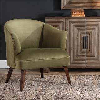 Uttermost Conroy Accent Chair in Olive