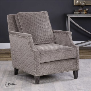 Uttermost Dallen Accent Chair in Pewter Gray