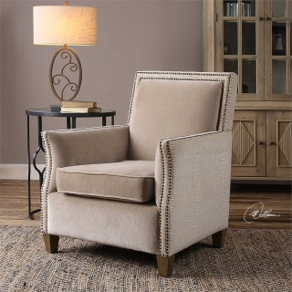 Uttermost Darick Arm Chair in Oatmeal