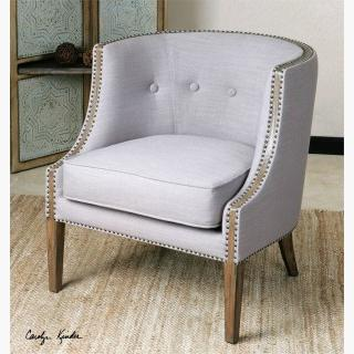 Uttermost Gamila Accent Chair in Light Gray