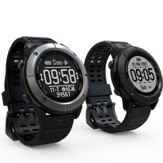 Uwear UW80C OLED 1.2 inch IP68 Heart Rate Monitor GPS Compass Sport SmartWatch