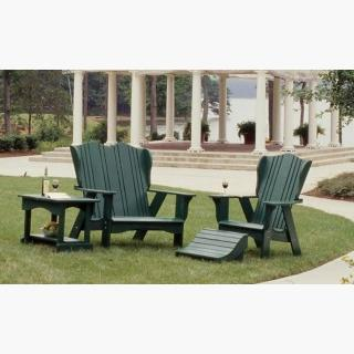 Uwharrie Chair 3051-027 Plantation Outdoor Settee Caribbean Blue