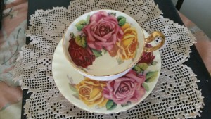 Vintage Ansley Teacup and Saucer