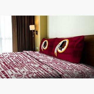 Washington Redskins Twin Sheet Set - 3pc NFL Football Anthem Bedding Sheets