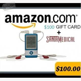 We are giving away a $100 Amazon gift card and SantaMedical PM-470 Tens Unit