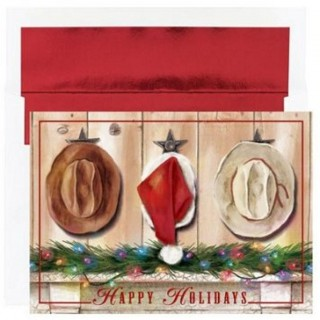 Western Hats Boxed Christmas Cards & Envs - 54 UK