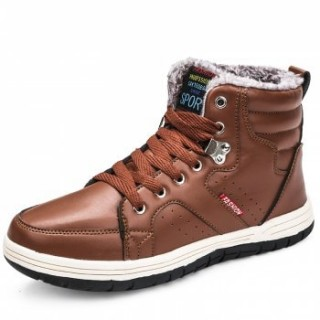 Winter Boots Men Fashion Fur Flock Winter Shoes