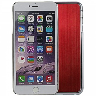 "Wire Drawing Titanium Alloy Back Protective Case for 5.5"" iPhone 6 Plus/6S Plus Red"