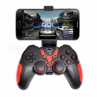 Wireless Bluetooth Game Controller Portable Joystick Handle Gamepad For IOS Android Devices Red