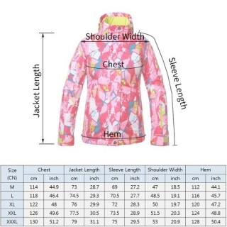Women's Hooded Windproof Ski Jacket