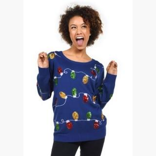 Women's Tipsy Elves Christmas Lights Ugly Christmas Sweater
