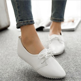 Women casual shoes spring and summer shoes, flat shoes wild, pure light color mouth female shoes