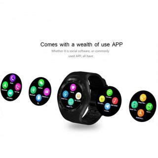 Y1 Smart Watch Round Nano SIM TF Card With Whatsapp Facebook fitness Business Smartwatch For Android