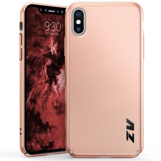 ZV THIN Series iPhone X Case - Ultra Slim, Lightweight and Scratch Resistant (Rose Gold Matte)
