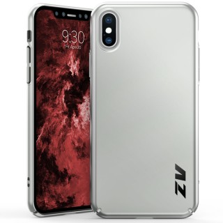 ZV THIN Series iPhone X Case - Ultra Slim, Lightweight and Scratch Resistant (Silver Matte)