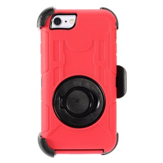 Zizo TRAC Cover For iPhone 6 / 6s - Tuff Armor w/ Kickstand And Holster Clip - Heavy Duty Strong Cas