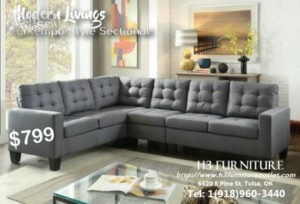 affordable grey sectional