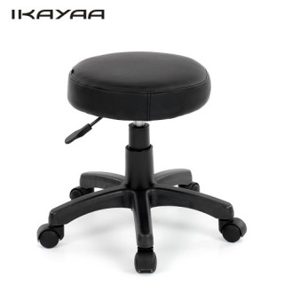 iKayaa PU Leather Swivel Bar Stool Chair Height Adjustable Pneumatic Counter Pub Chair Barstools Hea USA