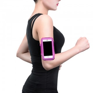 "iPhone 4/4S/5/5S 4.0"" Sport Armband for Running Jogging Gym Hot Pink Sverige"