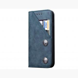 iPhone 6 Plus / iPhone 6S Plus Classic Style Wallet Card Holder PU Flip Case (Blue)