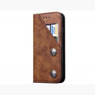 iPhone 6 Plus / iPhone 6S Plus Classic Style Wallet Card Holder PU Flip Case (Brown)