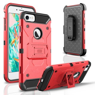 iPhone 8 Case / iPhone 7 Case - ZV Tough Armor Cover w/ [Heavy Duty Kickstand] Holster Clip and a [S