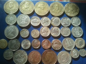 lot of old coins